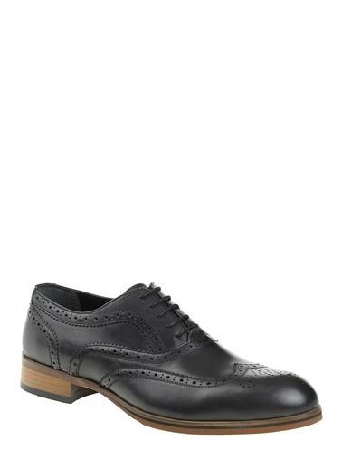 Daffari %100 Deri Oxford Ayakkabı Siyah